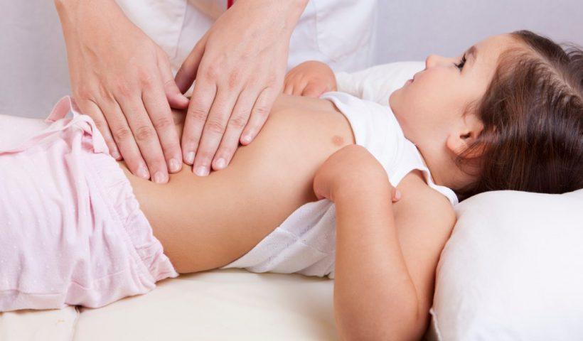 Пальпация печени у ребенка